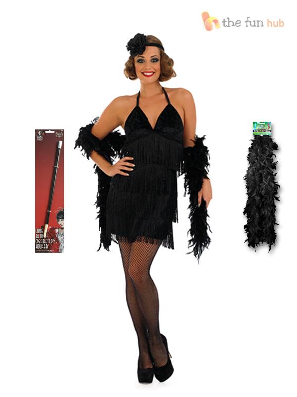 charleston gar onne robe fantaisie femme 1920 s roaring 20 s costume support boa ebay. Black Bedroom Furniture Sets. Home Design Ideas