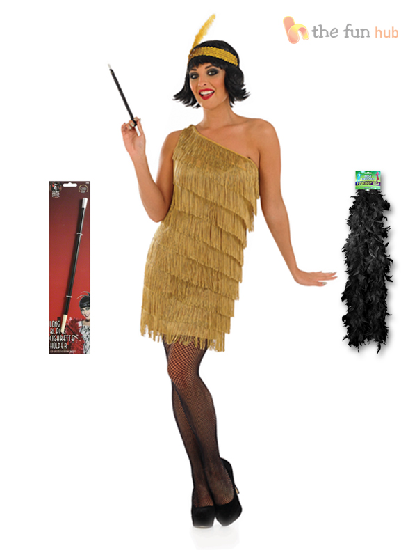 Charleston Flapper Fancy Dress Ladies 1920s Roaring 20s ...