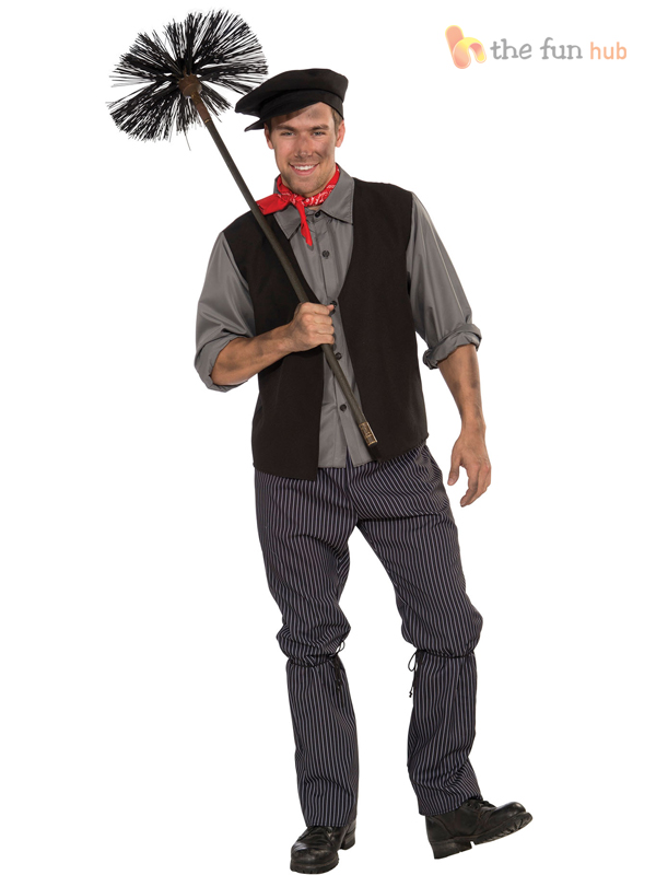 Adult-Ladies-Mens-Victorian-Nanny-Chimney-Sweep-Fancy-Dress-Costume-Book-Week