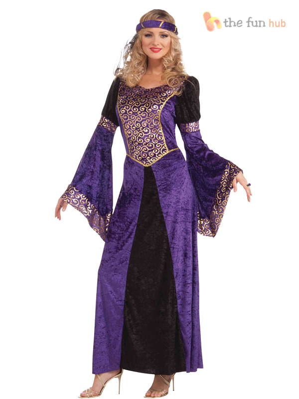 Royal-Medieval-Ladies-Fancy-Dress-Book-Week-Character-Tudor-Womens-Deluxe-Outfit