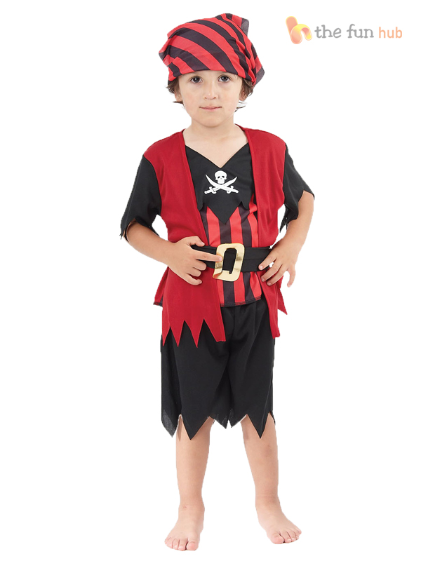 Girls-Boys-Toddler-Pirate-Costume-Childrens-Kids-Halloween-Fancy-Dress-Age-2-3