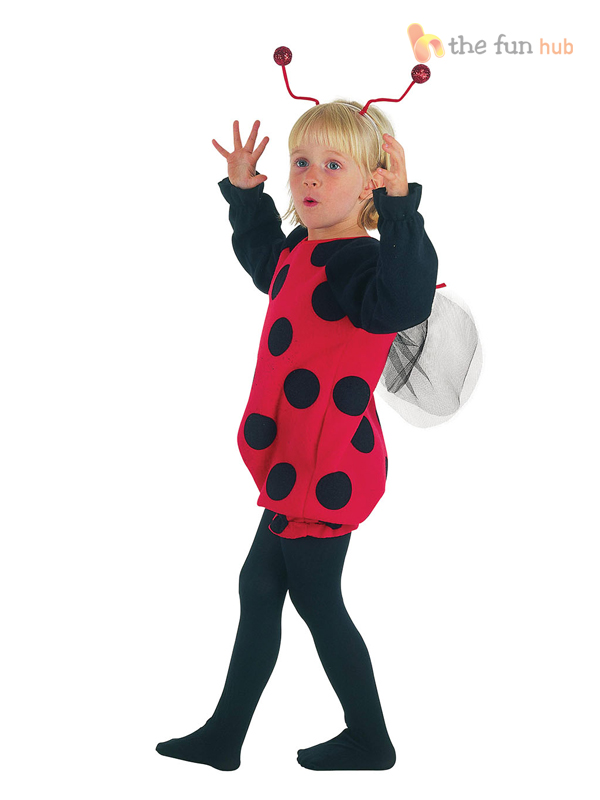 Girls Toddler Bumble Bee Ladybird Costume Animal Book Week Fancy Dress Age 2 3 4