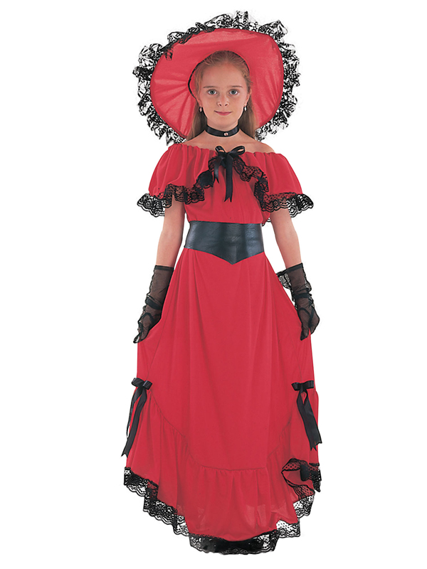 Scarlett o hara red dress kids
