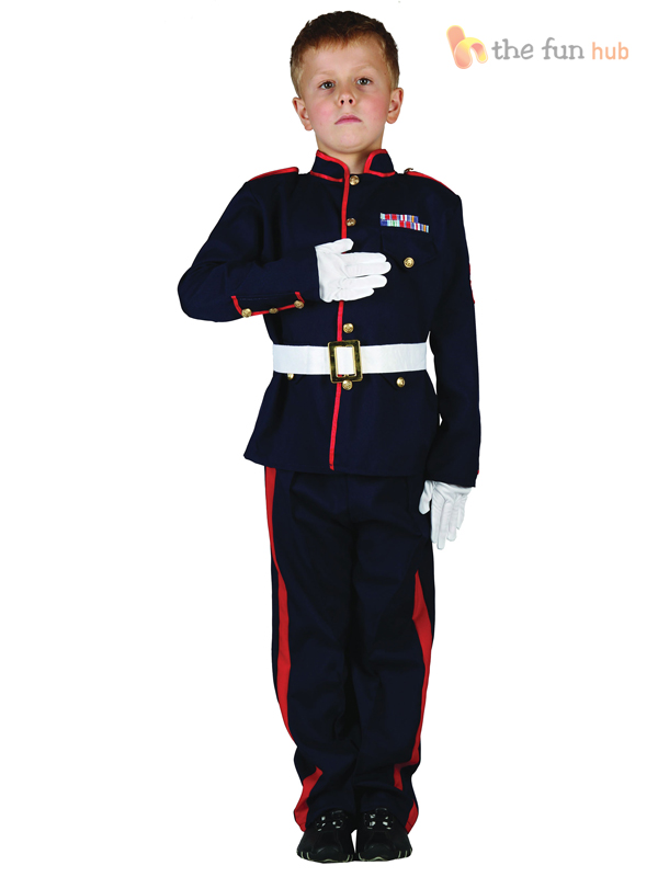 Boys Army Uniform Soldier Miltary Kids Childrens Fancy Dress Up Costume Outfit