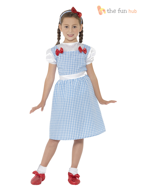 Girls Dorothy Fairytale Costume Childs Book Week Fancy Dress Kids ...