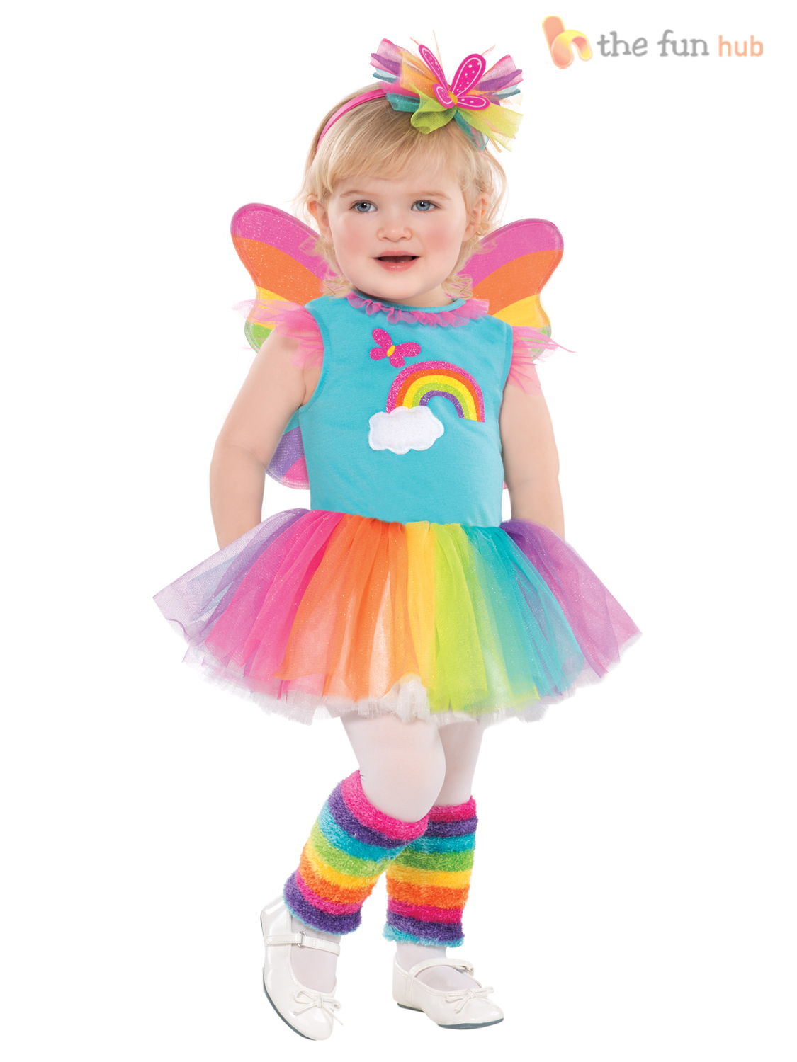 Girls-Rainbow-Butterfly-Fairy-Tutu-Cloud-Babies-Fancy-Dress-Costume-Age-3-4-5-6