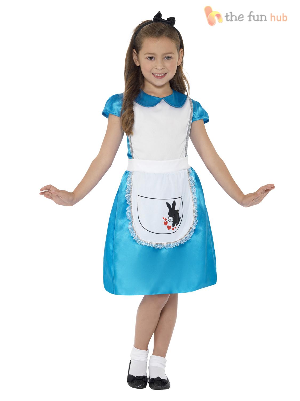 White apron like alice in wonderland - Girls Wonderland Alice Fancy Dress Kids Costume Child World Book Week Day Charac