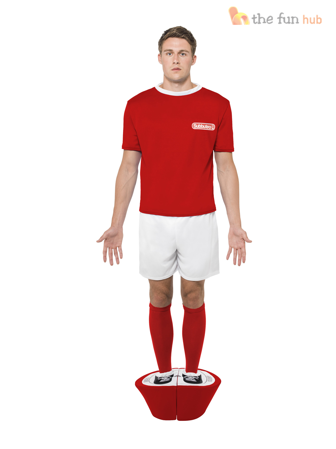 Subbuteo Strip Costume Mens Football Kit Sports Fancy Dress 80s Funny Stag Party | eBay