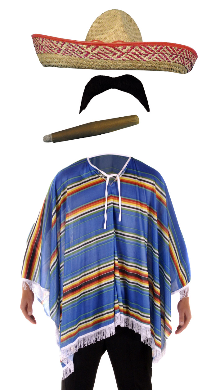 Mexican Poncho Accessories Fancy Dress Costume Bandit