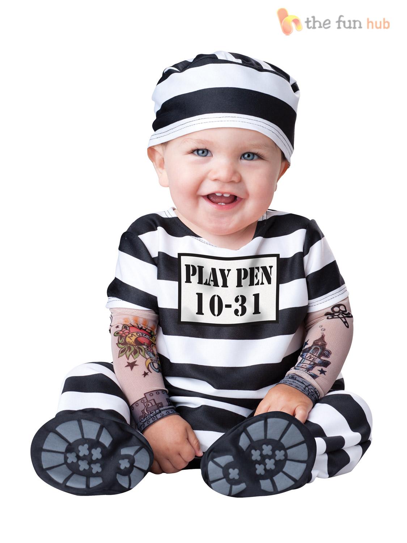 Boys Girls Baby Fancy Dress Up Pirate Prisoner Costume