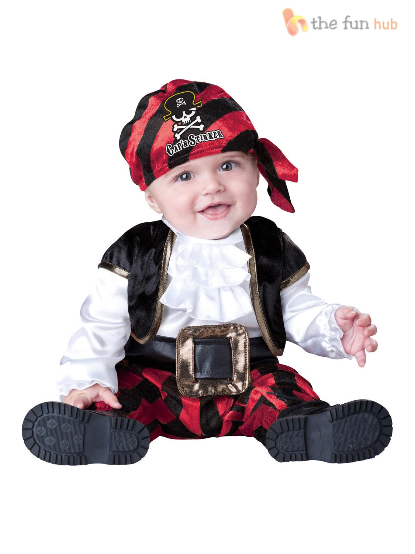 Boys Girls Baby Fancy Dress Up Pirate Prisoner Costume Infant 6 12 ...