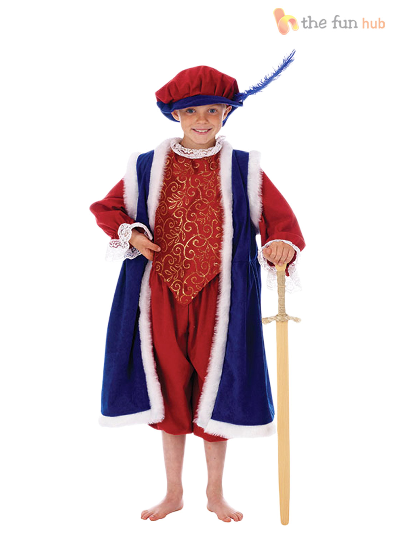 Medieval Royal Prince Mens Fancy Dress Renaissance Hooded