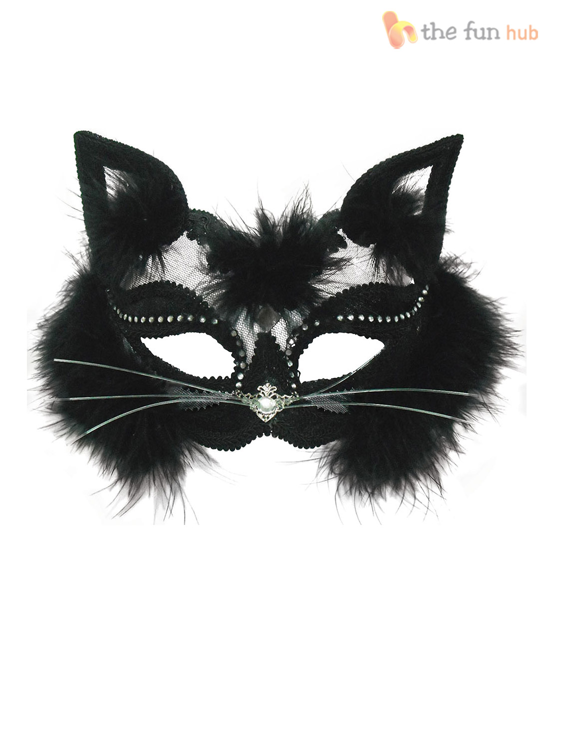 Ladies Cat Mask Masquerade Ball Accessory Animal Halloween ...