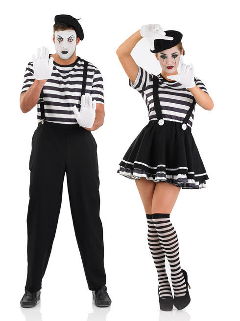 Ladies or Men's Mime Artist Costume