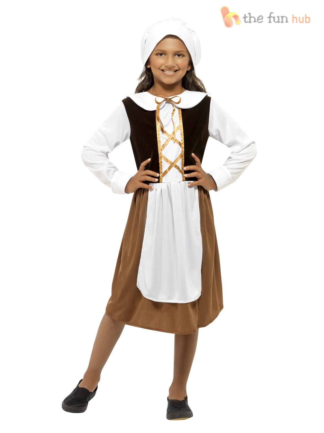 Girls-Poor-Tudor-Kitchen-Girl-Cook-Maid-Fancy-Dress-School-Book-Week-Costume