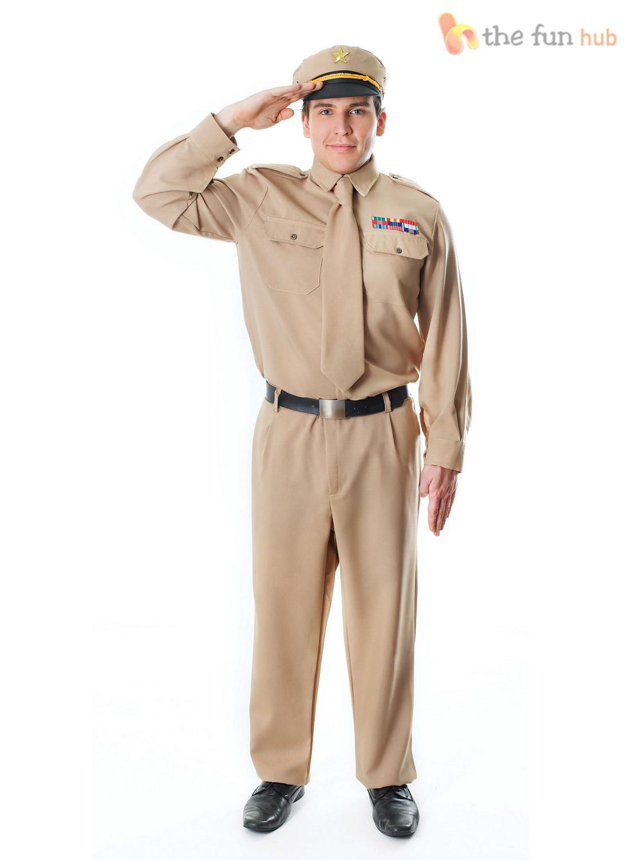 Mens 1940s WW2 US American Army GI Soldier Uniform Fancy ...