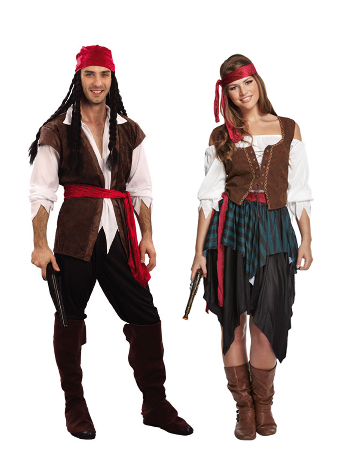 Mens-Ladies-Caribbean-Pirate-Captain-Costume-Adult-Fancy-Dress-Outfit-Halloween