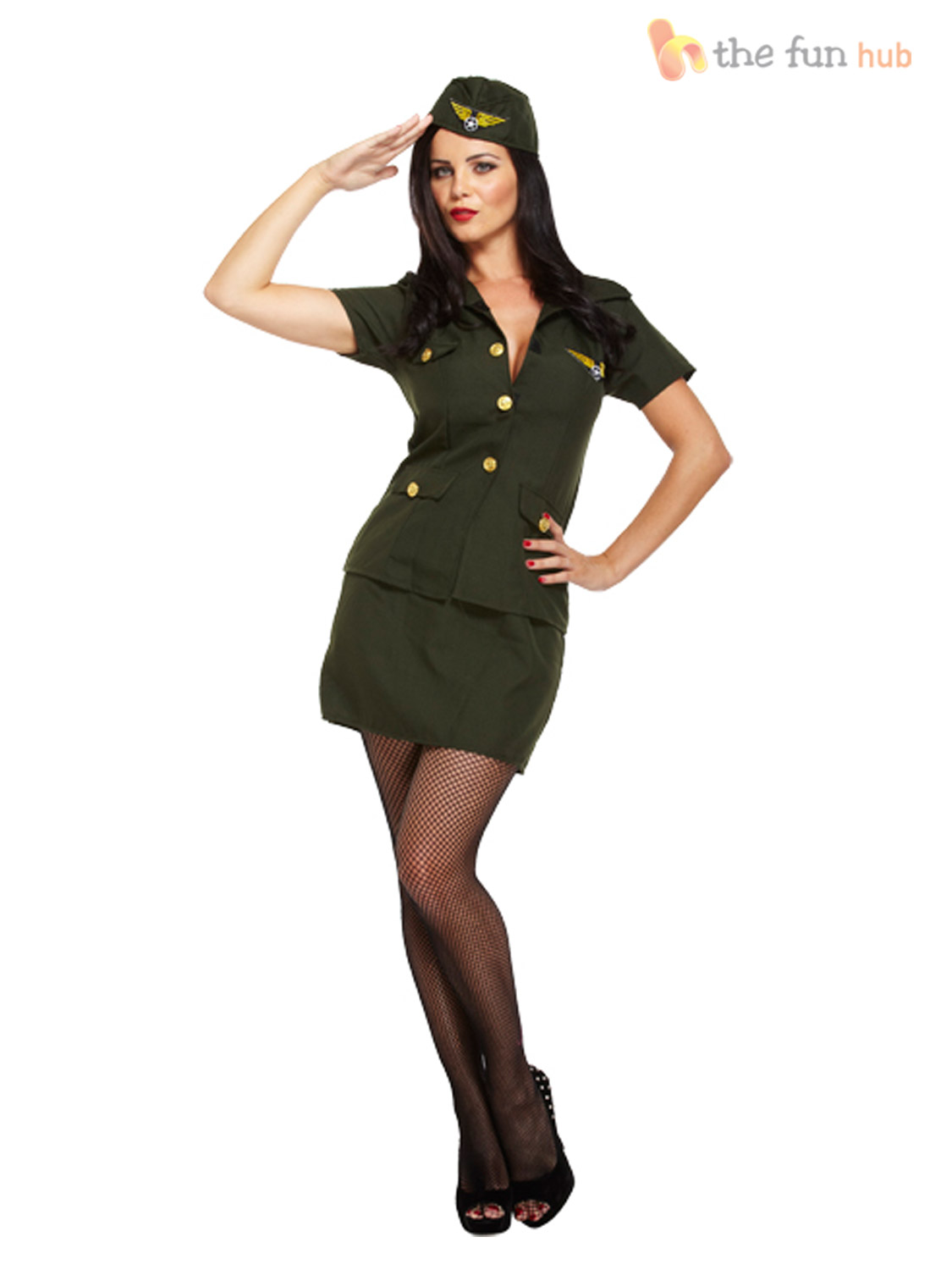 Ladies-Sexy-Army-Fancy-Dress-Costume-Soldier-Camo-  sc 1 st  eBay : army fancy dress costumes  - Germanpascual.Com
