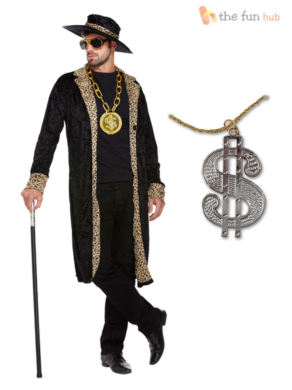 Gangsta Fashion Adult Mens 70s Pimp Ga...