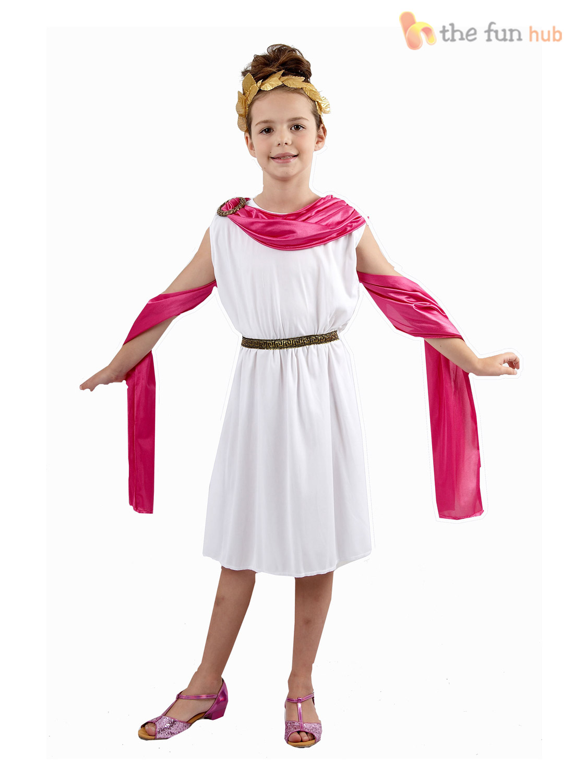 Girls Greek Goddess Athena Roman Egyptian Toga Book Week ...