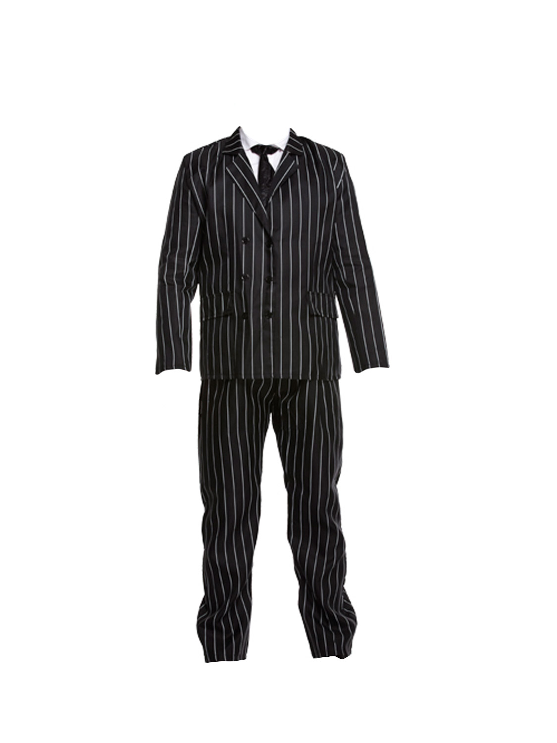 Gangster costume mens 1920s godfather mafia pinstripe suit adults