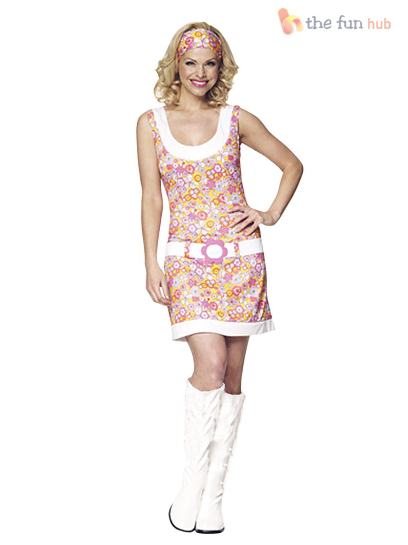 1960s 1970s hippy fancy dress costume hippie flower