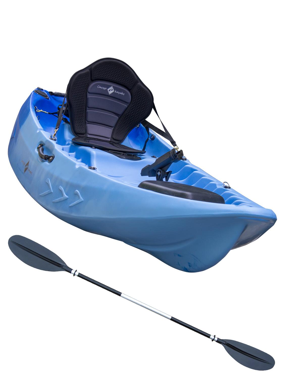 Sit on top kayak single double fishing 1 1 ocean river for Sit on fishing kayak
