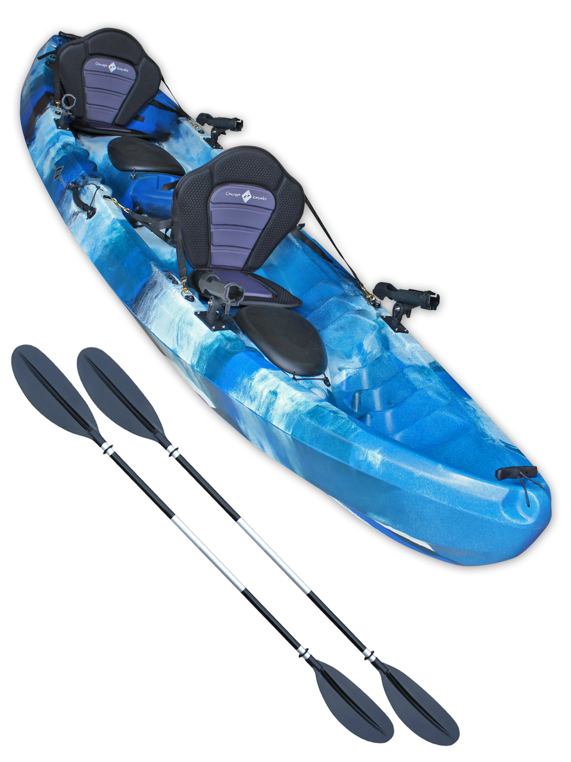 Tandem sit on top fishing kayak double canoe concept for Best tandem fishing kayak