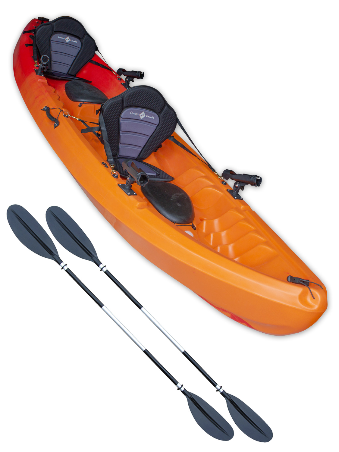 Sit on top tandem fishing 2 man kayak double twin canoe for Fishing from a canoe