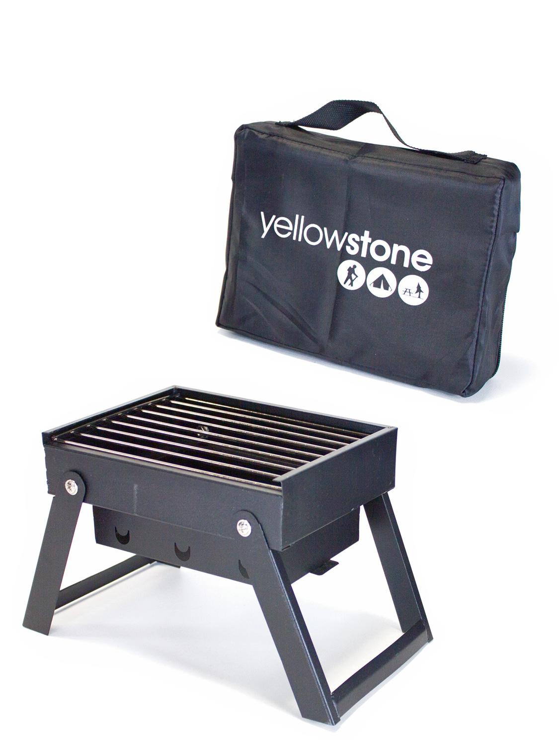 yellowstone mini folding portable bbq barbeque picnic travel camping grill. Black Bedroom Furniture Sets. Home Design Ideas