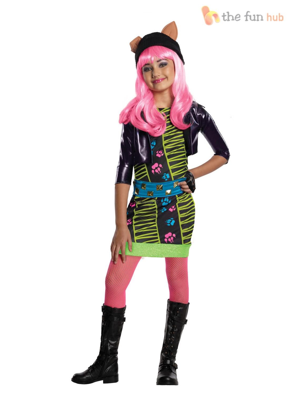girls licensed monster high costume howleen skelita halloween - Skelita Calaveras Halloween Costume