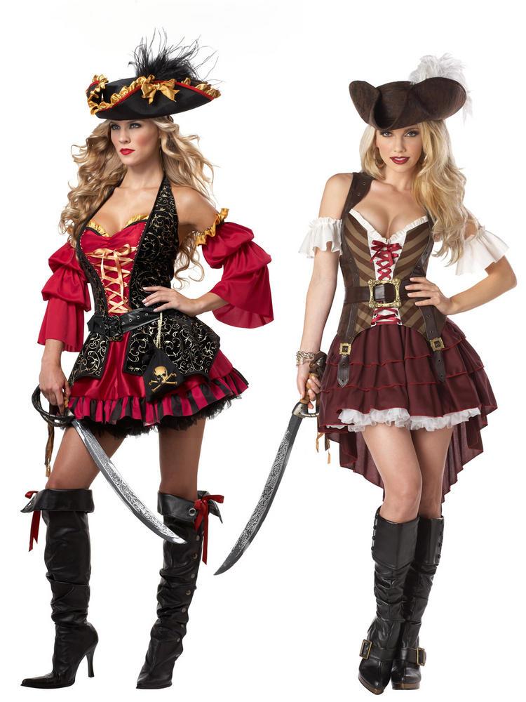 Ladies Sexy Swashbuckler Pirate Costume