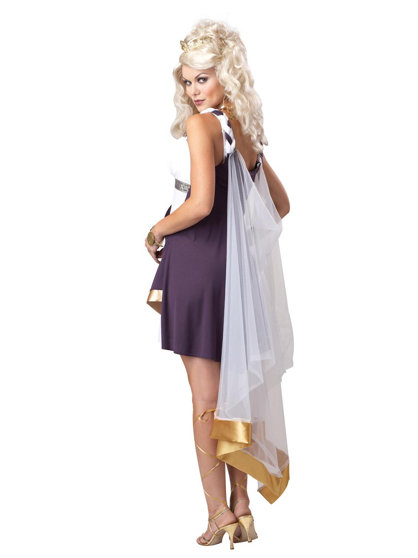 Ladies Aphrodite Greek Goddess Fancy Dress Costume Womens ...