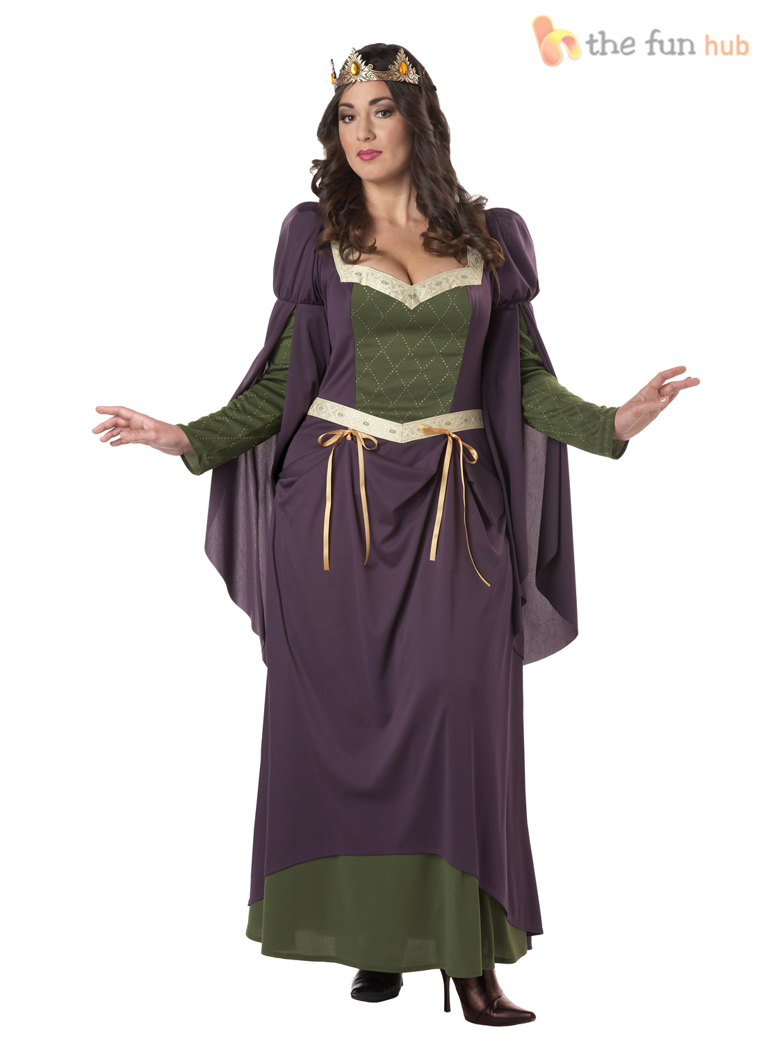 Ladies Medieval Fancy Dress Costume Renaissance Queen Lady