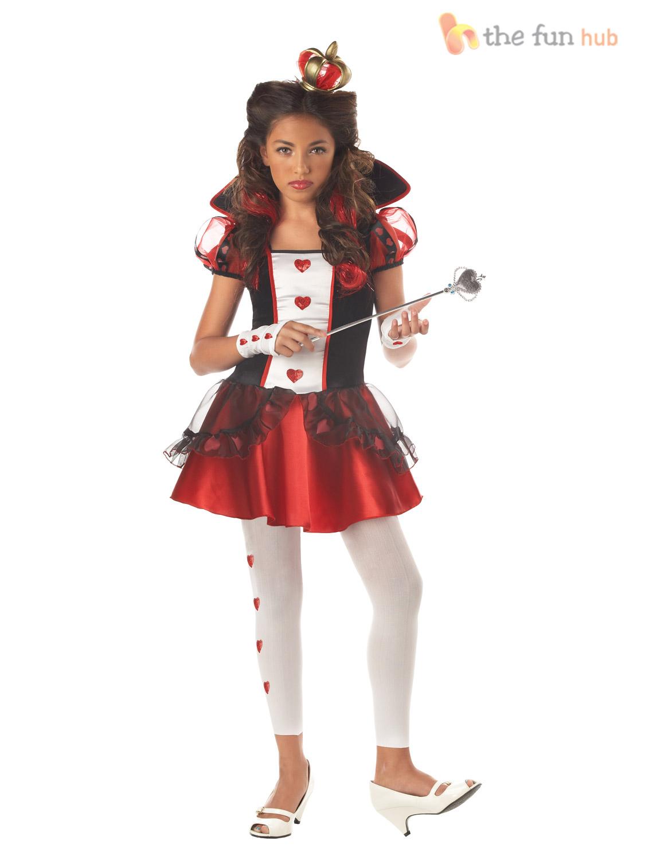 Age 10 14 girls teen fairytale alice in wonderland fancy dress costume