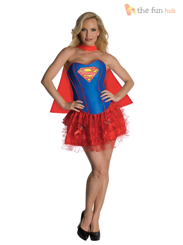 Adult Ladies Sexy Superhero Fancy Dress Halloween Party Hen Night ...