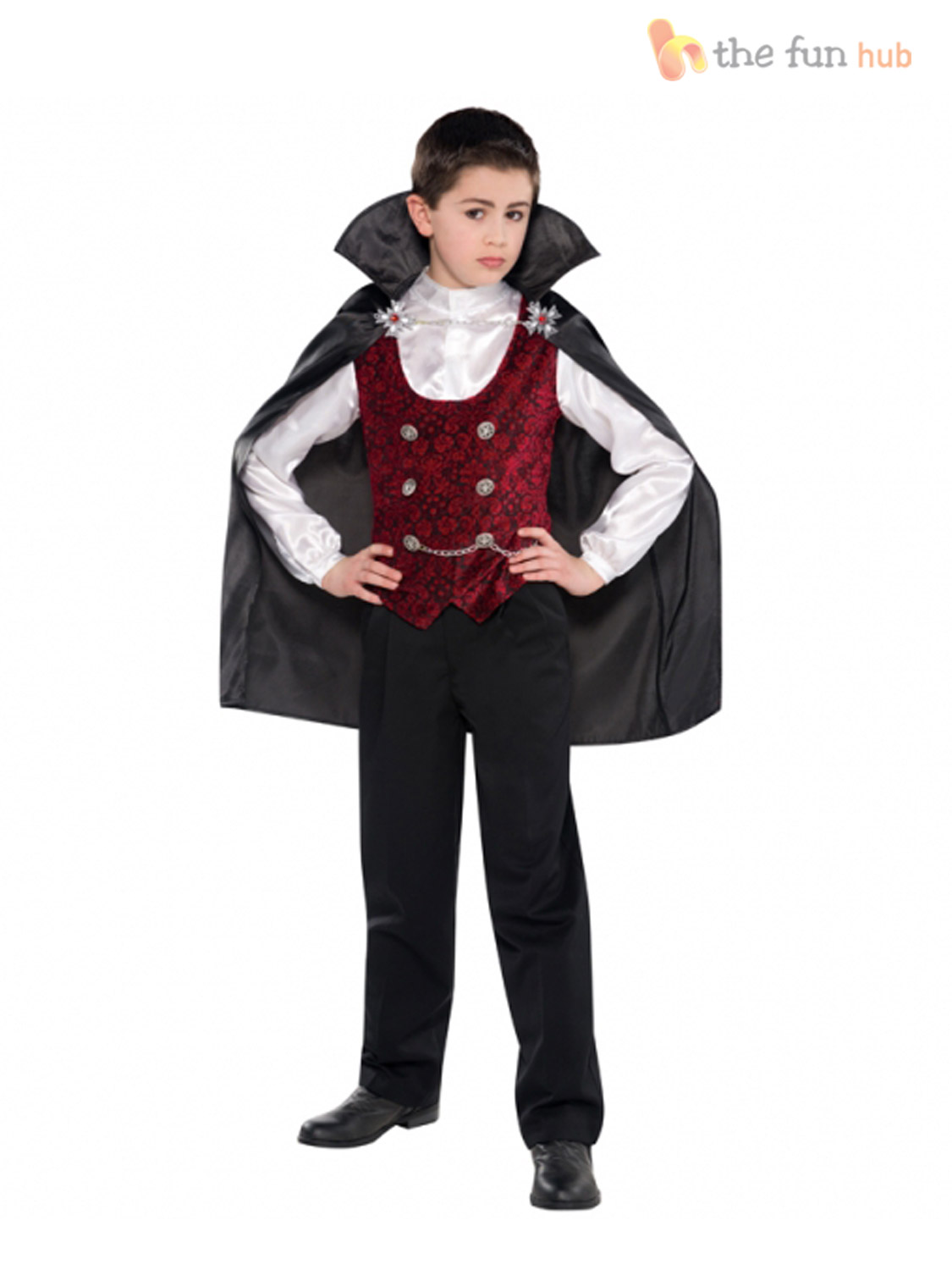 boys vampire costume age 4 14 halloween fancy dress. Black Bedroom Furniture Sets. Home Design Ideas