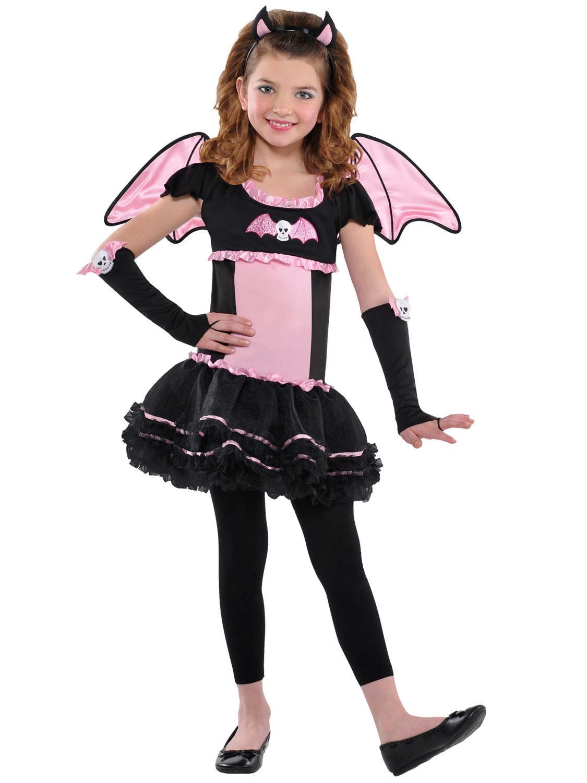 Age 3-10 Girls Ballerina Bat Costume Halloween Fancy Dress Party ...