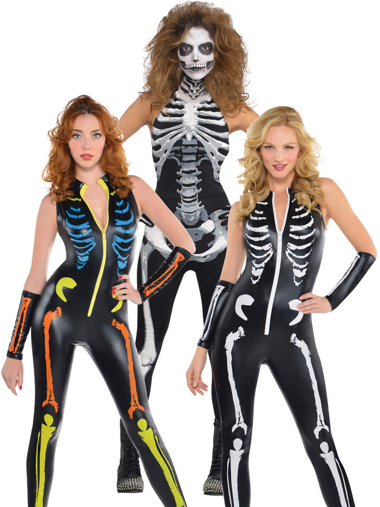 Ladies Skeleton Catsuit