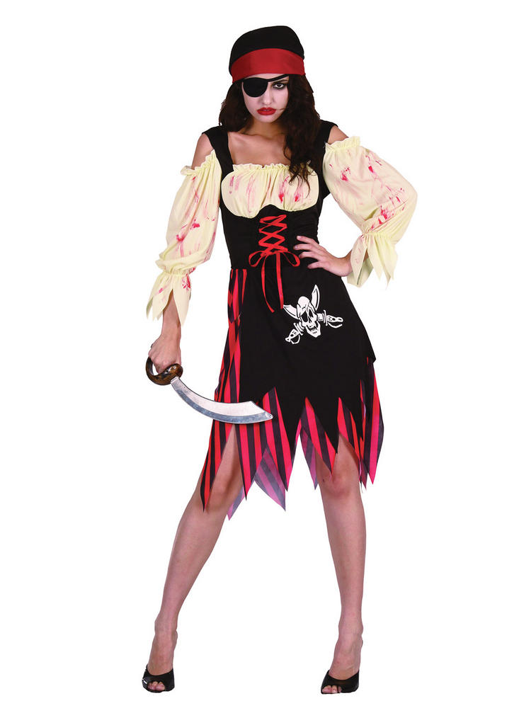 Ladies Zombie Pirate Wench Costume