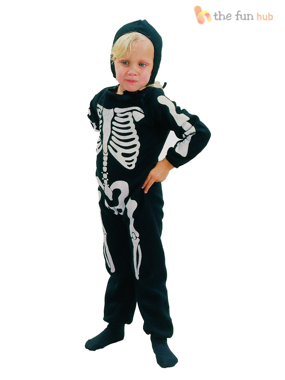 age 2 3 childrens skeleton costume boys girls