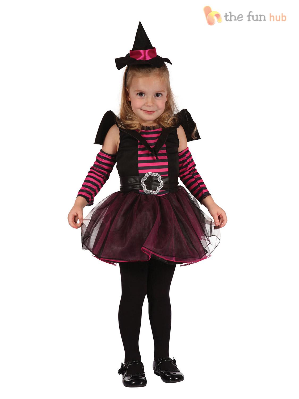 Toddler Girls Halloween Costume Age 2-3 Witch Cat Princess Tutu ...