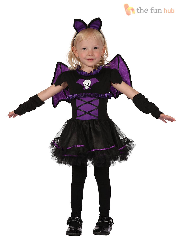 toddler girls halloween costume age 2 3 witch cat princess tutu fancy dress kids ebay. Black Bedroom Furniture Sets. Home Design Ideas