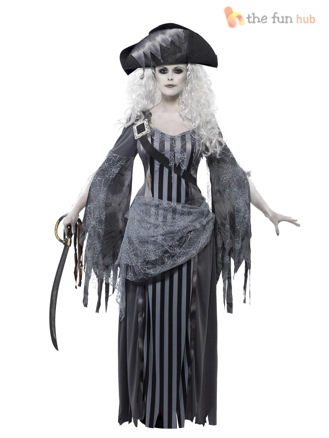adulte femme sexy vaisseau fant me zombie pirate costume womens halloween fancy dress ebay. Black Bedroom Furniture Sets. Home Design Ideas