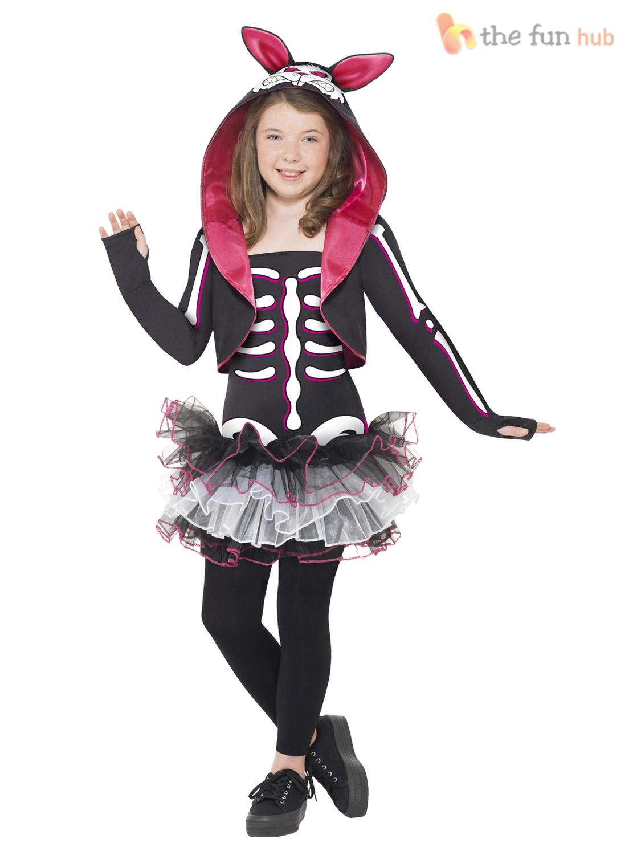age 7 13 girls skeleton tutu halloween fancy dress. Black Bedroom Furniture Sets. Home Design Ideas