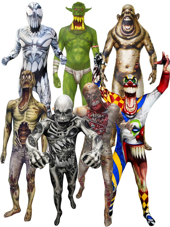 Morphsuit Monster Kids Boys Robot Zombie Halloween Fancy