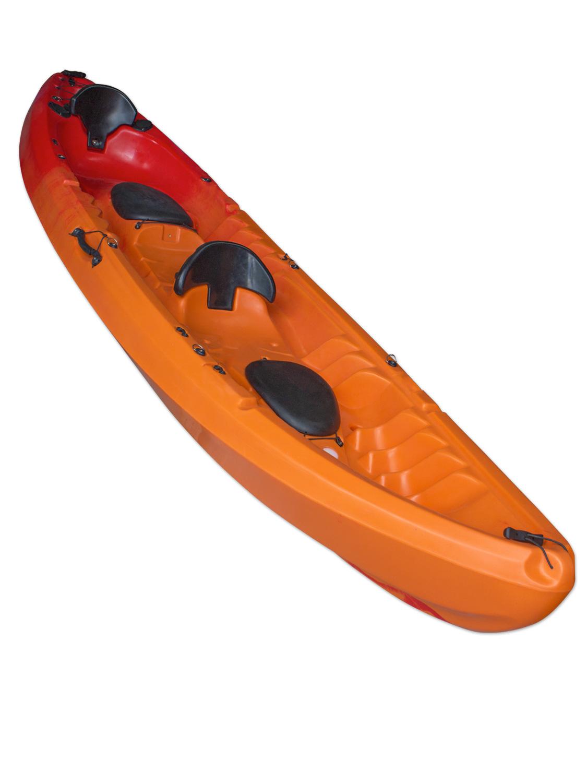 Tandem Sit On Top Kayak Double Canoe 2+1 - Concept Escape Family | eBay