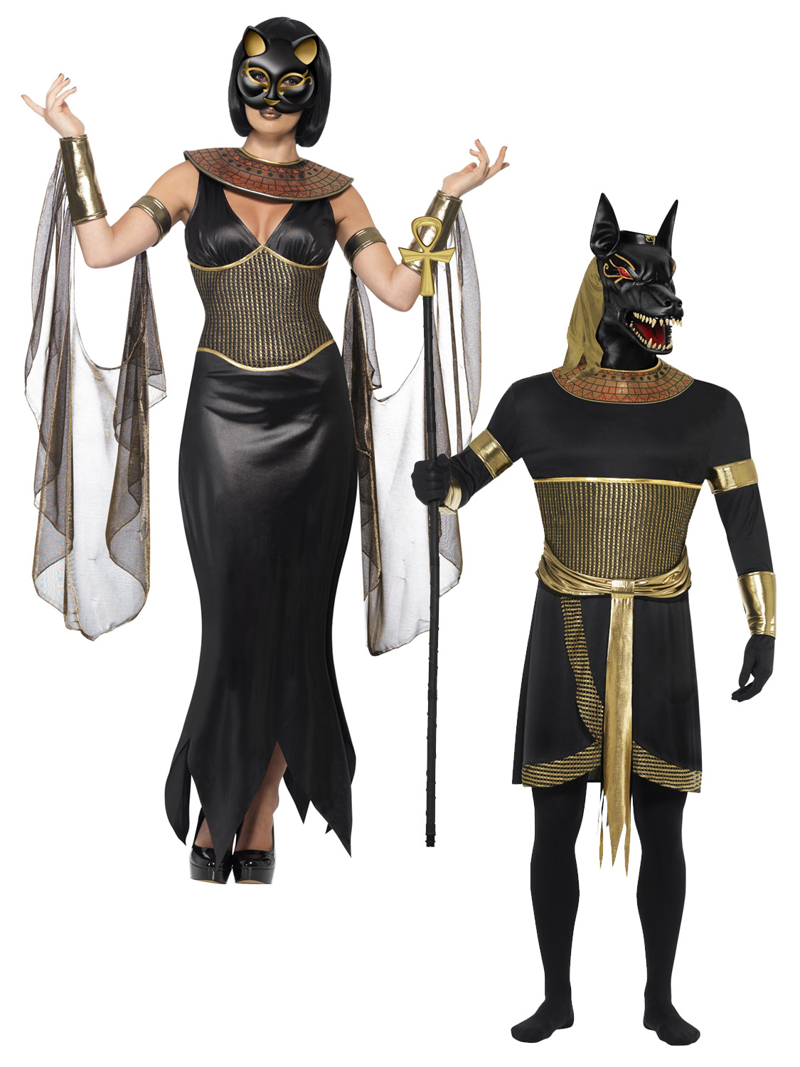 Mens Ladies Egyptian Goddess God Halloween Wild Dog Fancy ...