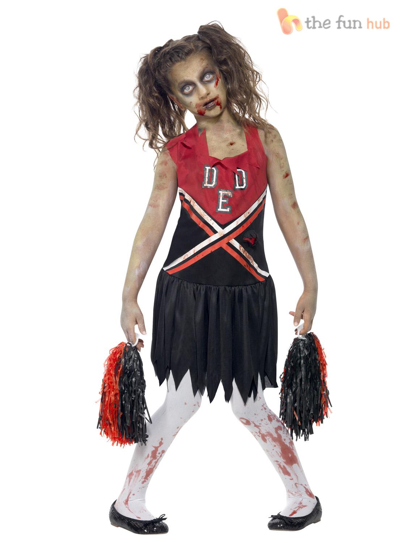 15 Fancy Up Do Tutorials: Age 7-15 Girls Zombie Cheerleader Costume School Halloween