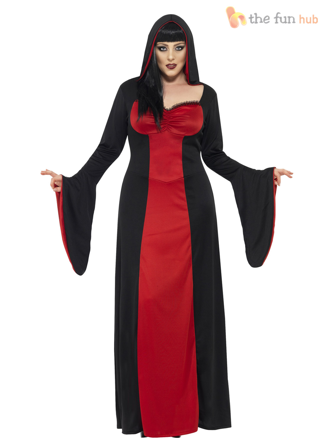Ladies Plus Size 20-26 Vampire Halloween Fancy Dress Costume Womens Party XL XXL
